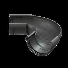 Угол желоба регулируемый ПВХ Docke LUX 141 мм Графит