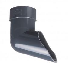 Колено сливное ПВХ Docke LUX 100 мм Графит