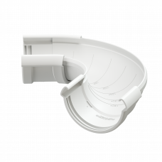 Угол желоба регулируемый ПВХ Docke LUX 141 мм Пломбир