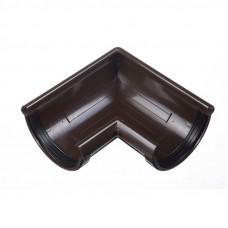 Угол желоба универсальный 90 град ПВХ Docke LUX 141 мм Шоколад