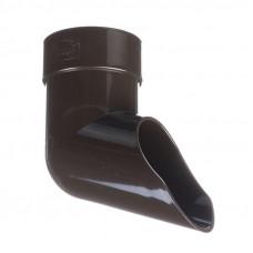 Колено сливное ПВХ Docke LUX 100 мм Шоколад
