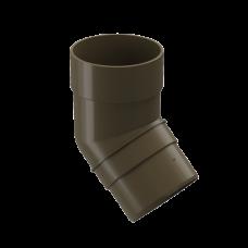 Колено трубы 45 град ПВХ Docke Premium 85 мм Каштан