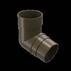 Колено трубы 72 град ПВХ Docke Premium 85 мм Каштан