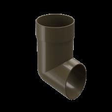 Колено сливное ПВХ Docke Premium 85 мм Каштан