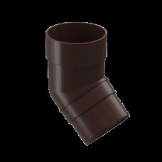 Колено трубы 45 град ПВХ Docke Premium 85 мм Шоколад