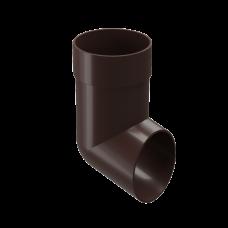 Колено сливное ПВХ Docke Premium 85 мм Шоколад