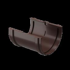 Соединитель желоба ПВХ Docke Premium 120 мм Шоколад