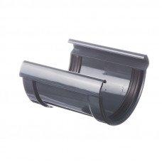Соединитель желоба ПВХ Docke LUX 141 мм Графит