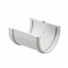 Соединитель желоба ПВХ Docke Premium 120 мм Пломбир