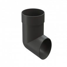 Колено сливное ПВХ Docke Premium 85 мм Графит