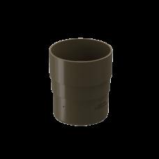 Муфта трубы соединительная ПВХ Docke Premium 85 мм Каштан