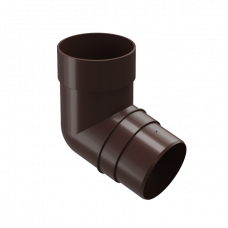 Колено трубы 72 град ПВХ Docke Premium 85 мм Шоколад