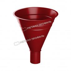 Воронка водосборная Металл Профиль Престиж (Foramina) 300/100 мм P363 (красный)