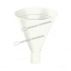 Воронка водосборная Металл Профиль Престиж (Foramina) 300/100 мм RAL 9010 (белый)