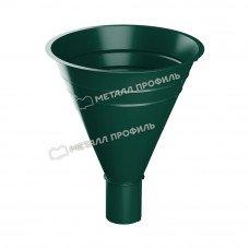 Воронка водосборная Металл Профиль Престиж (Foramina) 300/100 мм RAL 6005 (зеленый мох)
