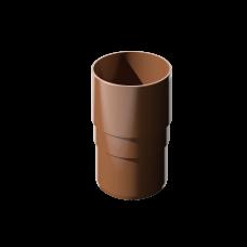 Муфта трубы соединительная ПВХ Технониколь 82 мм Коричневый