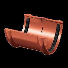 Соединитель желоба ПВХ Технониколь 125 мм Красный
