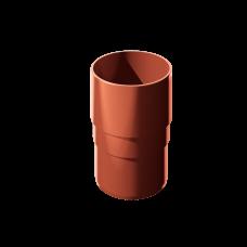 Муфта трубы соединительная ПВХ Технониколь 82 мм Красный