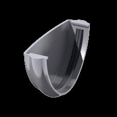 Заглушка желоба универсальная ПВХ Технониколь 125 мм Серый