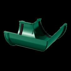 Угол желоба универсальный 90 град ПВХ Технониколь 125 мм Зеленый