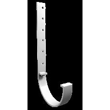 Крюк желоба длинный металлический L-300 мм Vinylon D125 мм Белый