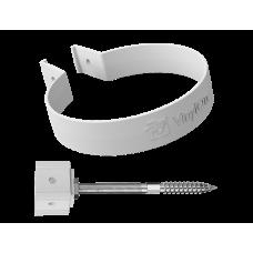 Хомут трубы на кирпич ПВХ Vinylon 90 мм Белый