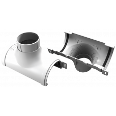 Воронка желоба центральная ПВХ Vinylon 125/90 мм Белый
