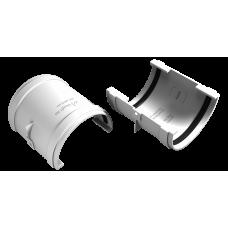 Муфта желоба соединительная ПВХ Vinylon 125 мм Белый
