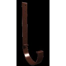 Крюк желоба длинный металлический L-300 мм Vinylon D125 мм Кофе