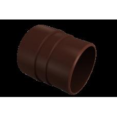 Муфта трубы соединительная ПВХ Vinylon 90 мм Кофе