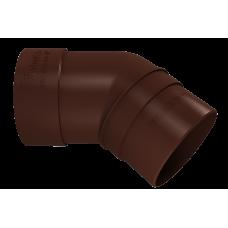 Колено трубы 45 град ПВХ Vinylon 90 мм Кофе