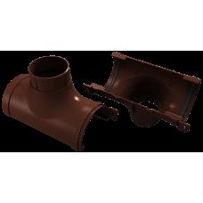 Воронка желоба центральная ПВХ Vinylon 125/90 мм Кофе