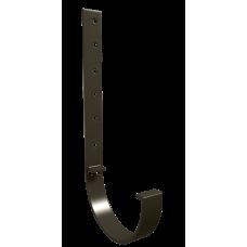 Крюк желоба длинный металлический L-300 мм Vinylon D125 мм Венге