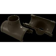 Воронка желоба центральная ПВХ Vinylon 125/90 мм Венге