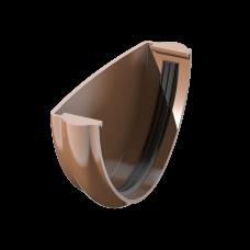 Заглушка желоба универсальная ПВХ Технониколь 125 мм Коричневый