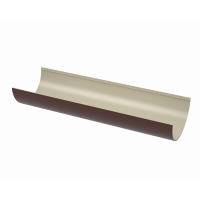 Желоб водосточный полукруглый ПВХ Технониколь 125 мм Коричневый 3 м