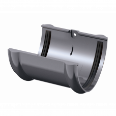 Соединитель желоба ПВХ Технониколь 125 мм Серый