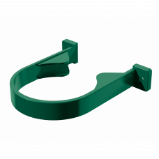 Хомут трубы на дерево ПВХ Технониколь 82 мм Зеленый