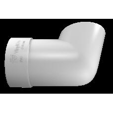 Колено сливное ПВХ Vinylon 90 мм Белый