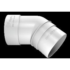 Колено трубы 45 град ПВХ Vinylon 90 мм Белый