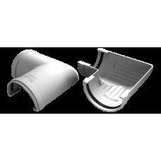 Угол желоба универсальный 90 град ПВХ Vinylon 125 мм Белый