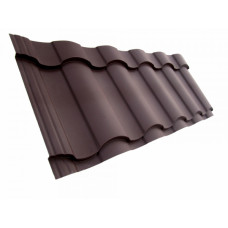 Металлочерепица Grand Line Kredo 0.5 мм Velur (RR 32 темно-коричневый) В наличии