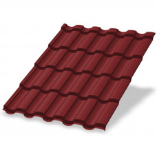 Металлочерепица Металл Профиль Монтекристо 0.5 мм Purman (RAL 3011 коричнево-красный)