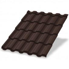 Металлочерепица Металл Профиль Монтекристо 0.5 мм Purman (RAL 8017 шоколадно-коричневый)