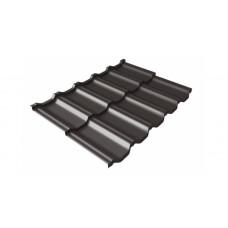 Модульная металлочерепица Grand Line Kvinta Uno 0.5 мм Velur (RR 32 темно-коричневый) В наличии