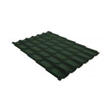 Металлочерепица Grand Line Classic 0.45 мм Drap (RAL 6020 хромовый зеленый)