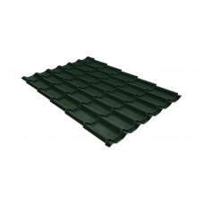 Металлочерепица Grand Line Classic 0.5 мм GreenCoat Pural Matt (RR 11 темно-зеленый)