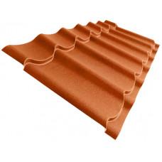 Металлочерепица Grand Line Classic 0.5 мм Velur (RAL 8004 медно-коричневый) В наличии