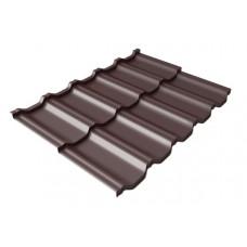 Модульная металлочерепица Grand Line Kvinta Uno 0.5 мм Velur (RAL 8017 шоколадно-коричневый) В наличии