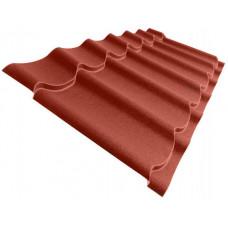 Металлочерепица Grand Line Classic 0.5 мм Velur (RAL 3009 оксидно-красный) В наличии